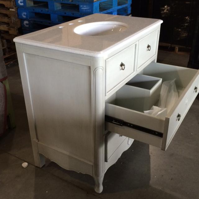 ... 34 Inch Bathroom Vanity Antique White Finish