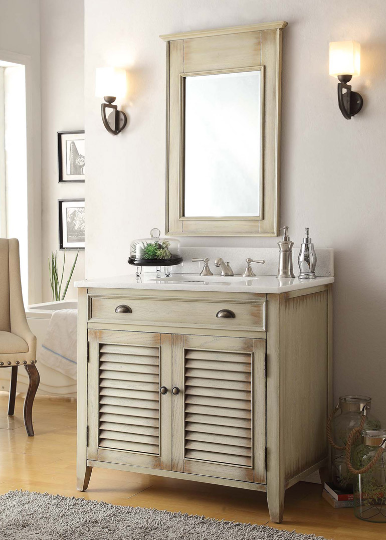 36 inch bathroom vanity with sink.  Adelina 36 inch Cottage Bathroom Vanity Antique