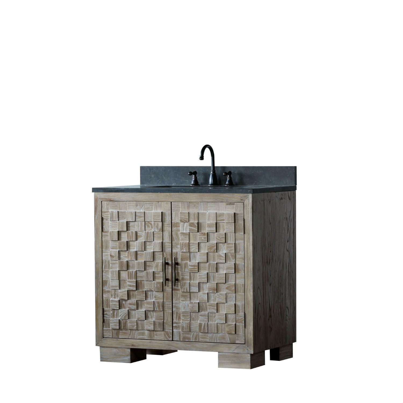 36 Inch Distressed Wood Bathroom Vanity Cabinet