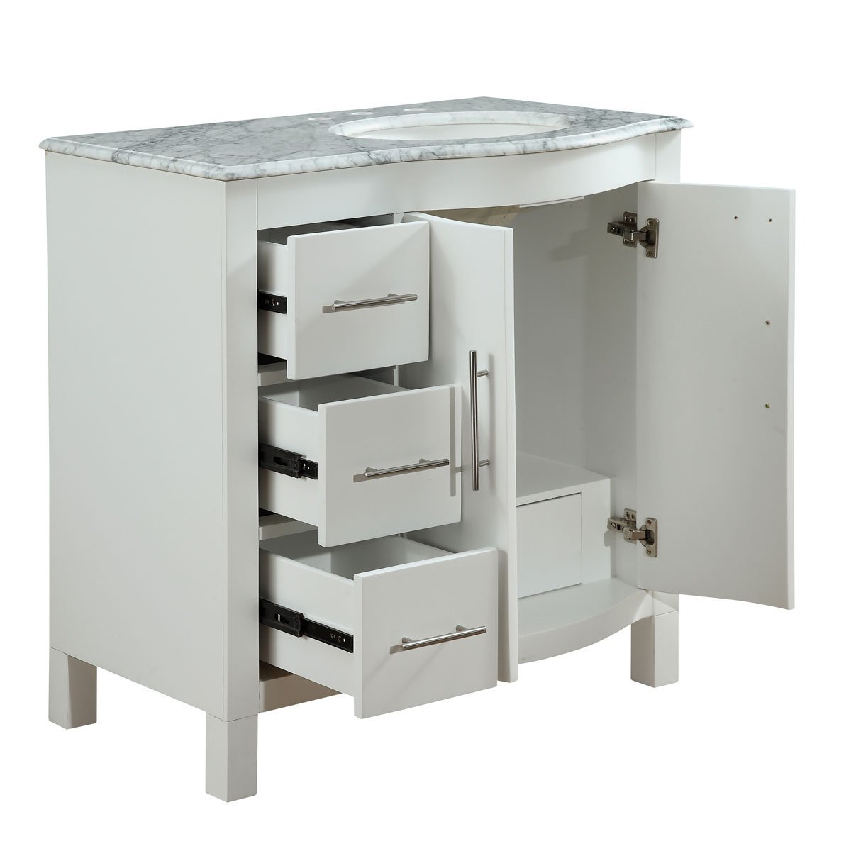 36 inch single sink contemporary bathroom vanity cabinet for Bathroom vanities and cabinets