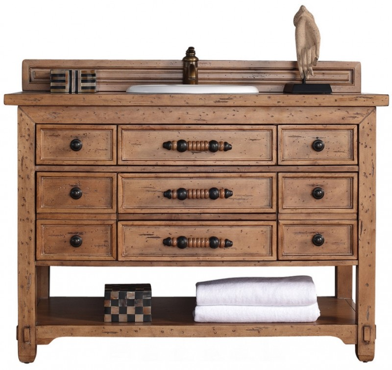 Vanity Wood Top : James martin malibu collection quot single vanity cabinet