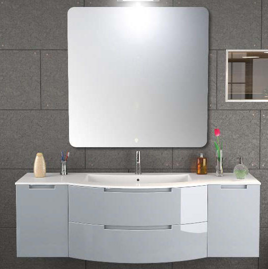 67 inch modern floating bathroom vanity sand finish
