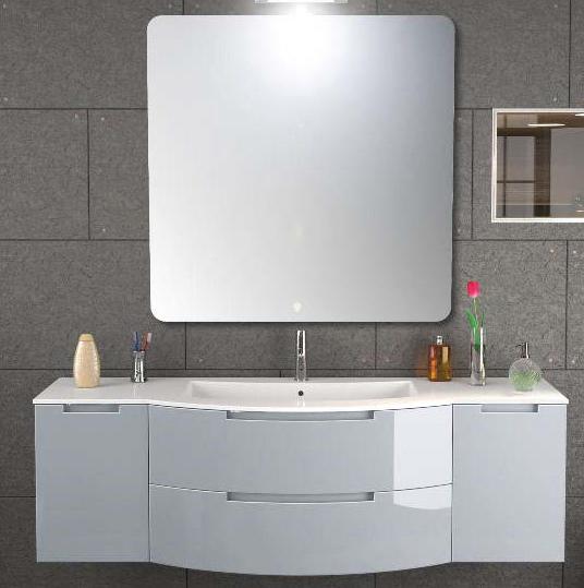 Inch Modern Floating Bathroom Vanity Grey Finish - Grey floating bathroom vanity