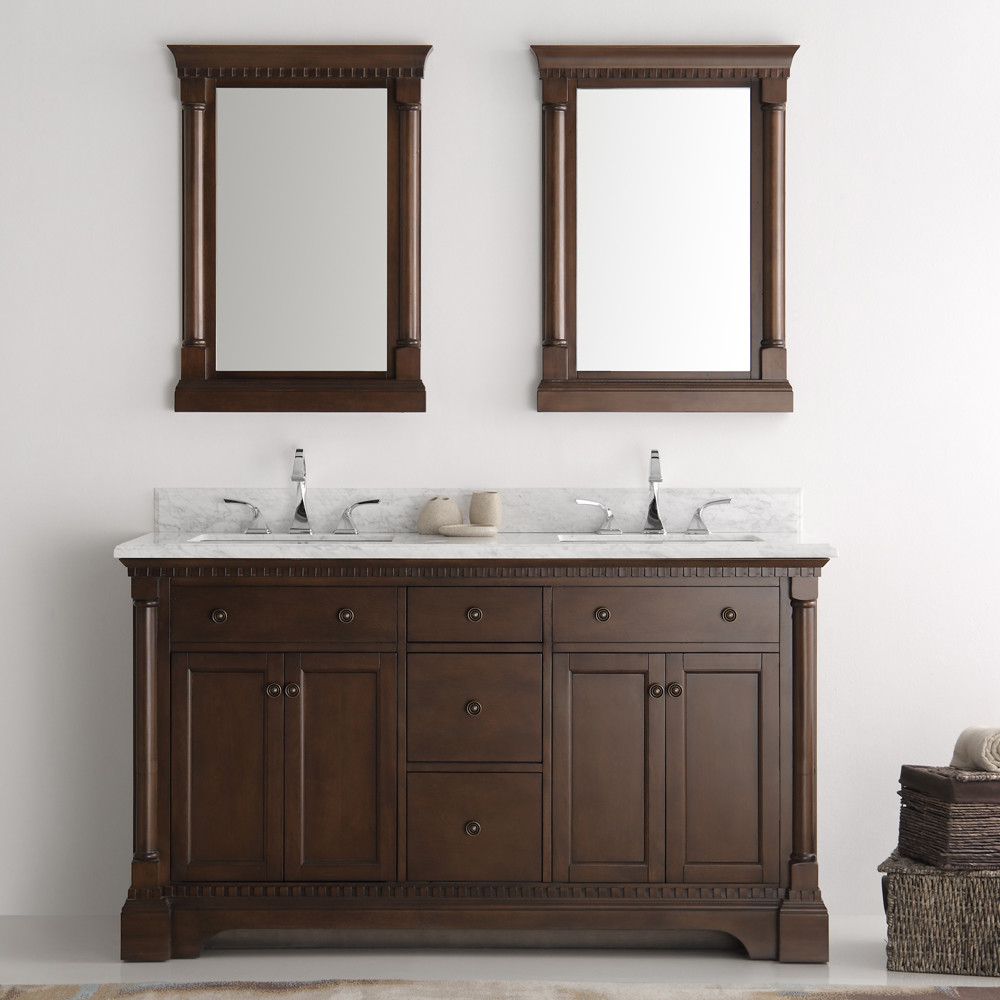mirror for bathroom vanity fresca kingston collection 61 quot antique coffee 19479