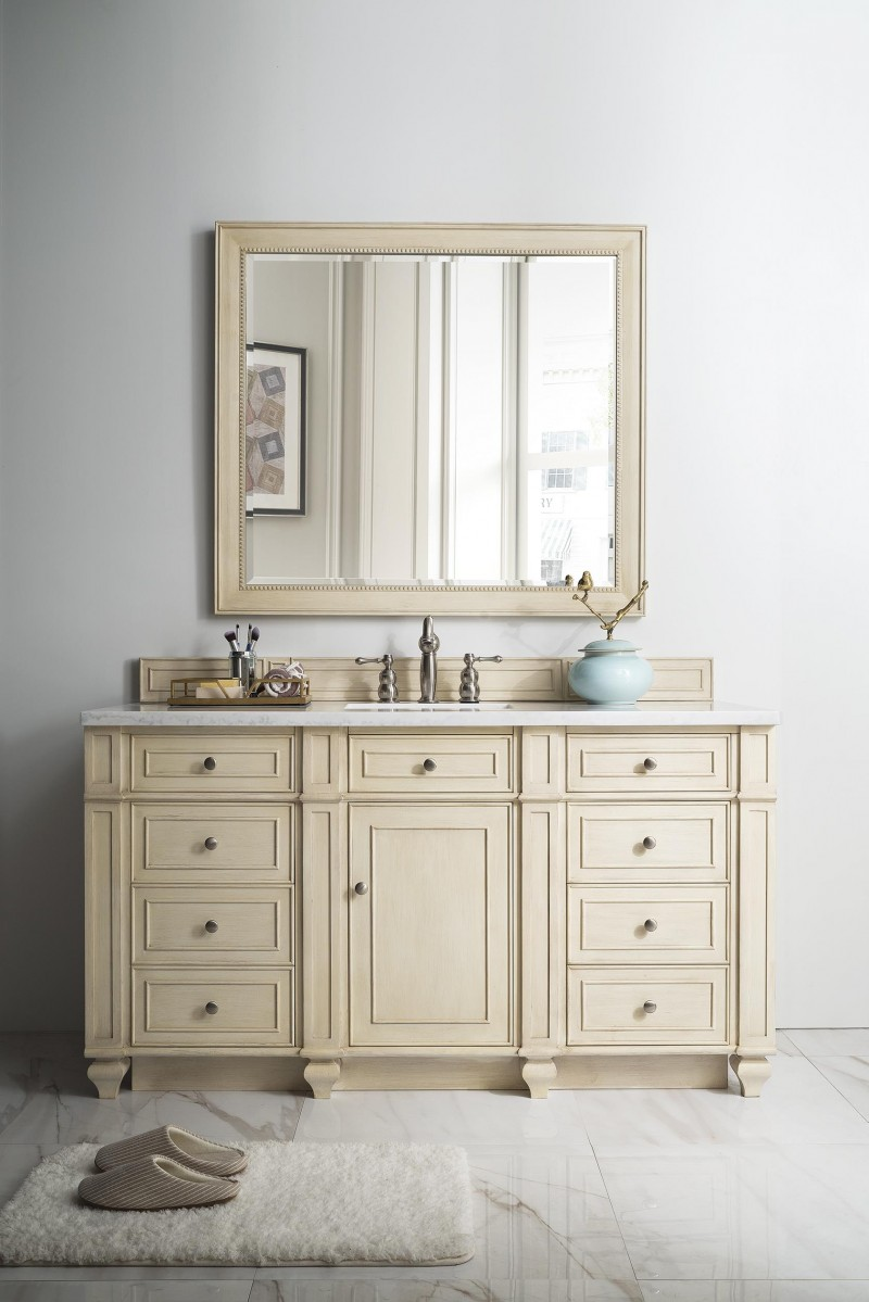 60 inch antique single sink bathroom vanity vintage vanilla finish 60 in bathroom vanities with single sink