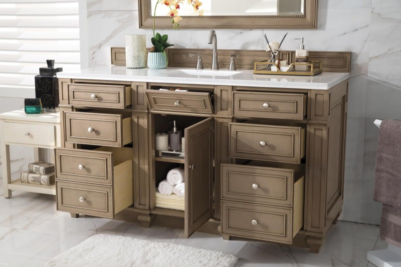 60 inch antique single sink bathroom vanity whitewashed walnut finish 60 in bathroom vanities with single sink