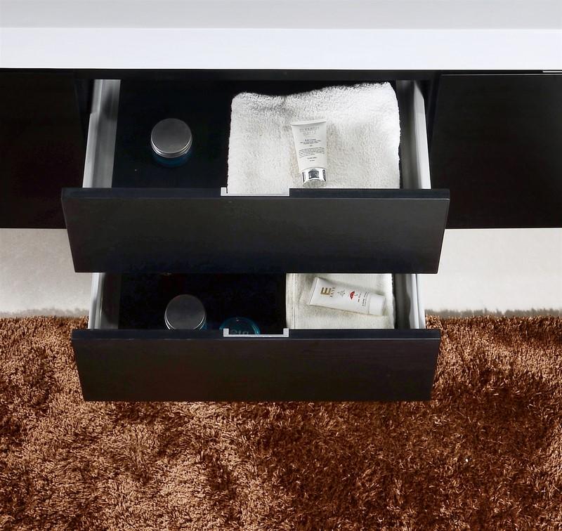 castelli black finish 24 quot modern single sink bathroom
