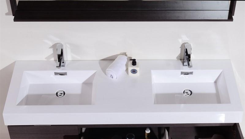 60 Inch Bathroom Vanity Double Sink Canada 60 inch wall mount double sink modern bathroom vanity gray oak finish