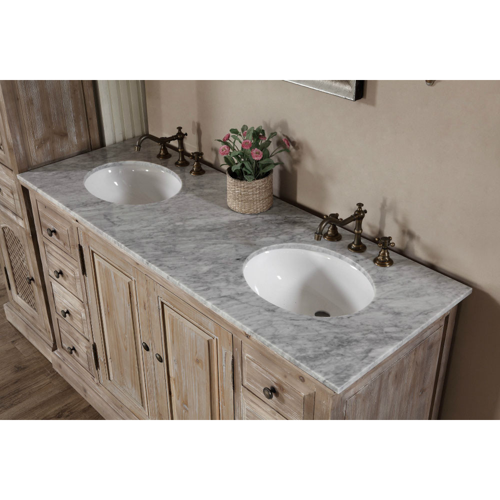 60 inch rustic double bathroom vanity top