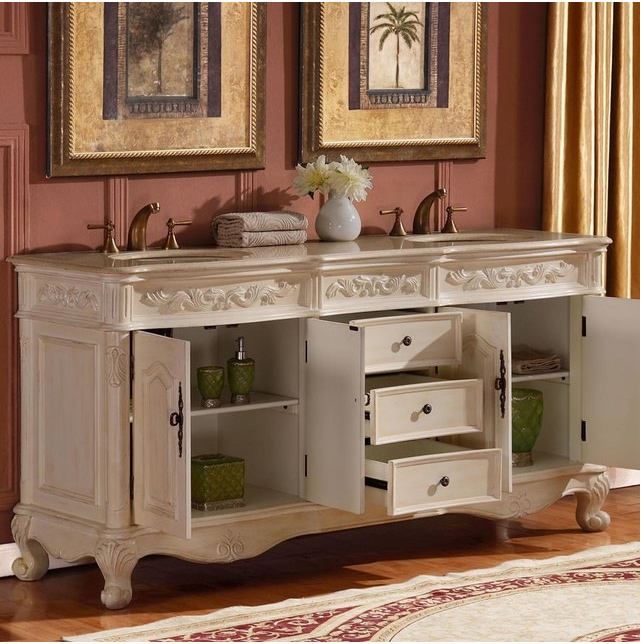 72 inch white bathroom vanity silkroad 33 inch antique white sink bathroom vanity 21876
