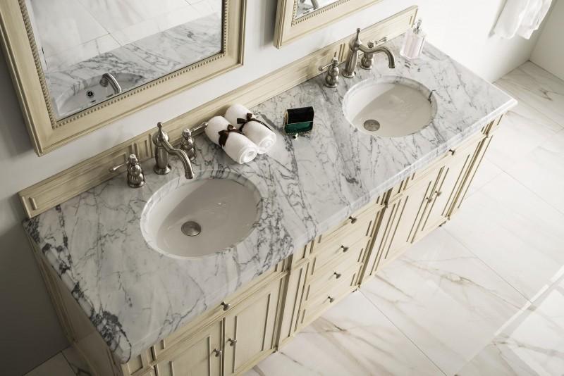 ... 72 Inch Double Sink Bathroom Vanity Vintage Vanilla Finish ...