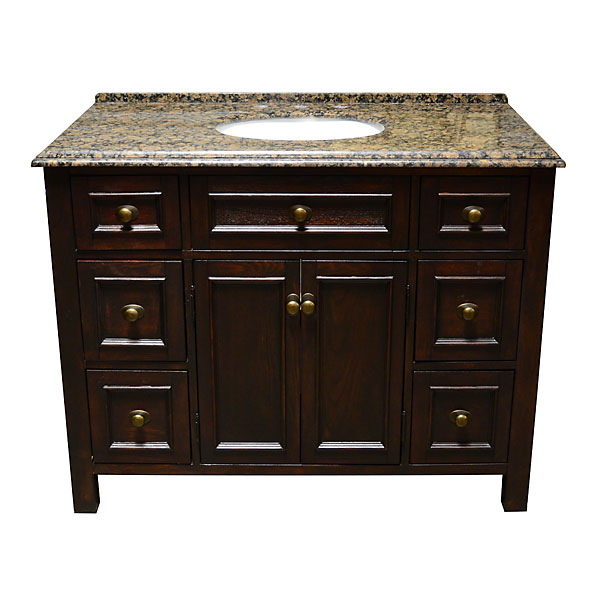 Adf Allington 45 Inch Stone Top Single Sink Bathroom Vanity