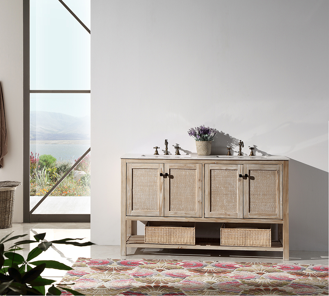 Awesome 2 Sink Bathroom Vanity Contemporary Best Image Engine