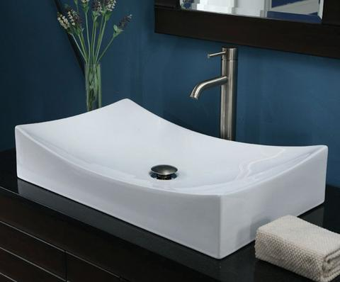 Above Counter 26in Vessel Sink Modern Shape Timeless Beauty Of Vitreous China