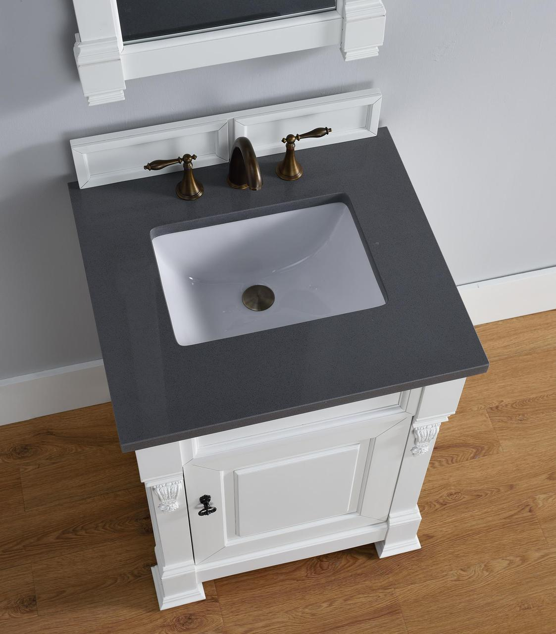 26 inch bathroom vanity. Abstron 26 Inch White Finish Single Sink Bathroom Vanity Optional Countertops N