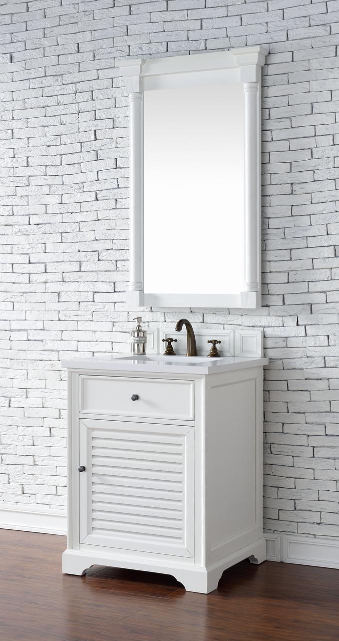James Martin Savannah Collection 26 Single Vanity Cabinet Cottage White