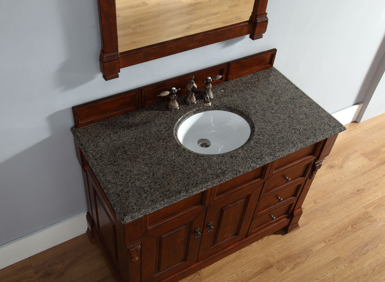 ... Abstron 48 Inch Cherry Finish Single Traditional Bath Vanity Optional  Countertop ... Part 69