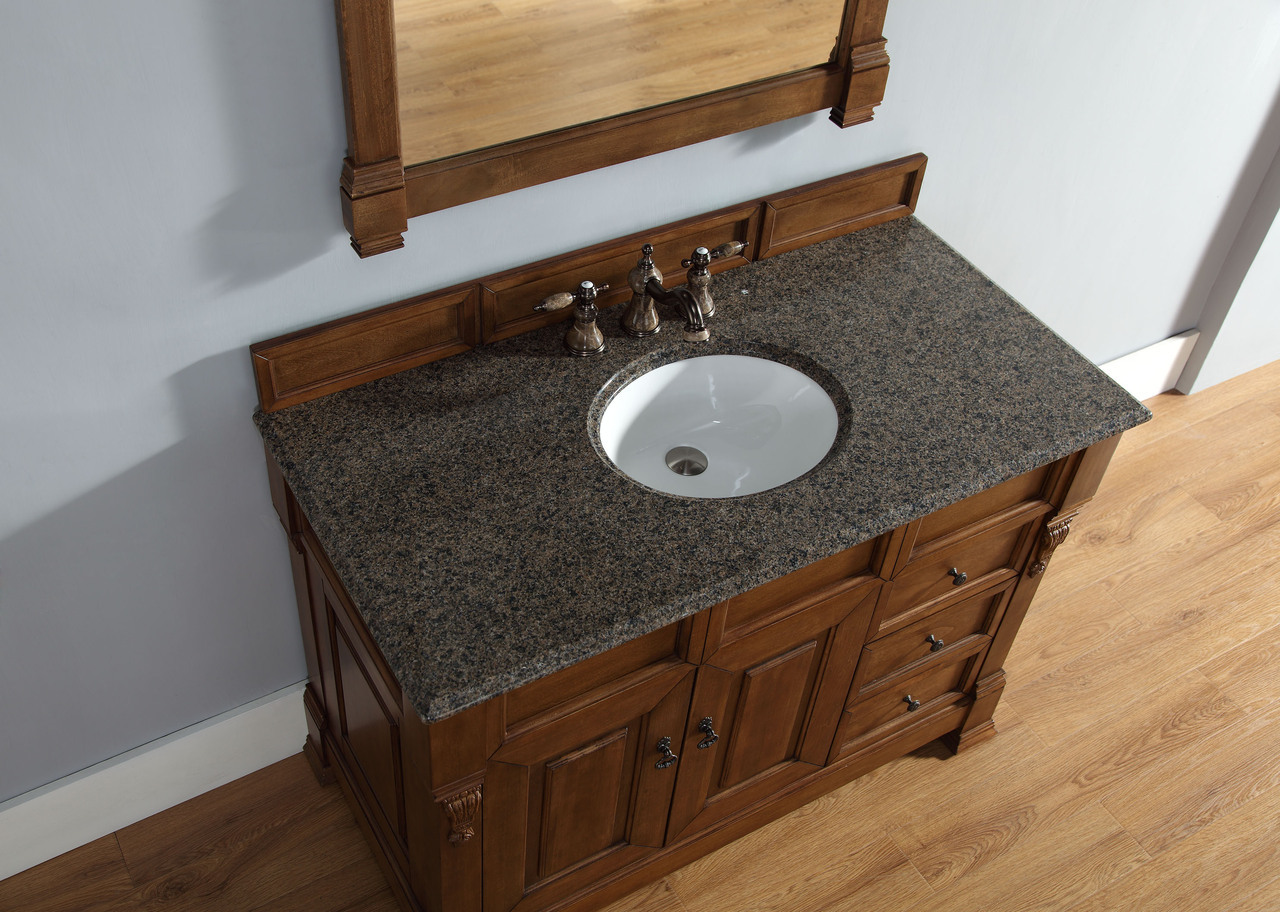 James Martin Brookfield Collection 48 Single Vanity With Drawers Country Oak