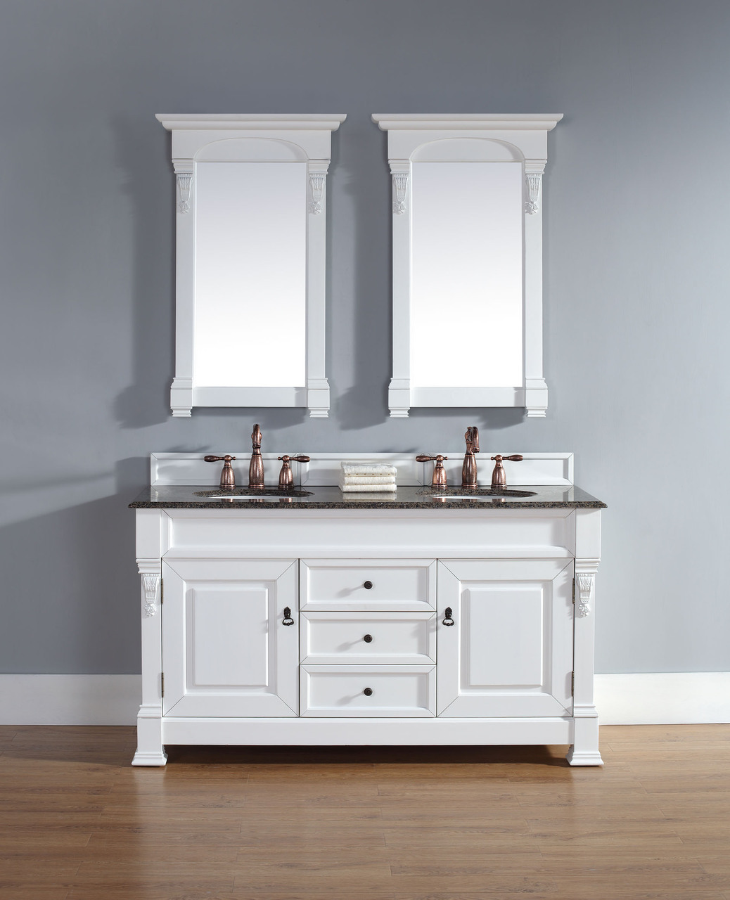 60 Inch White Vanity Base abstron 60 inch cottage white finish double traditional bathroom