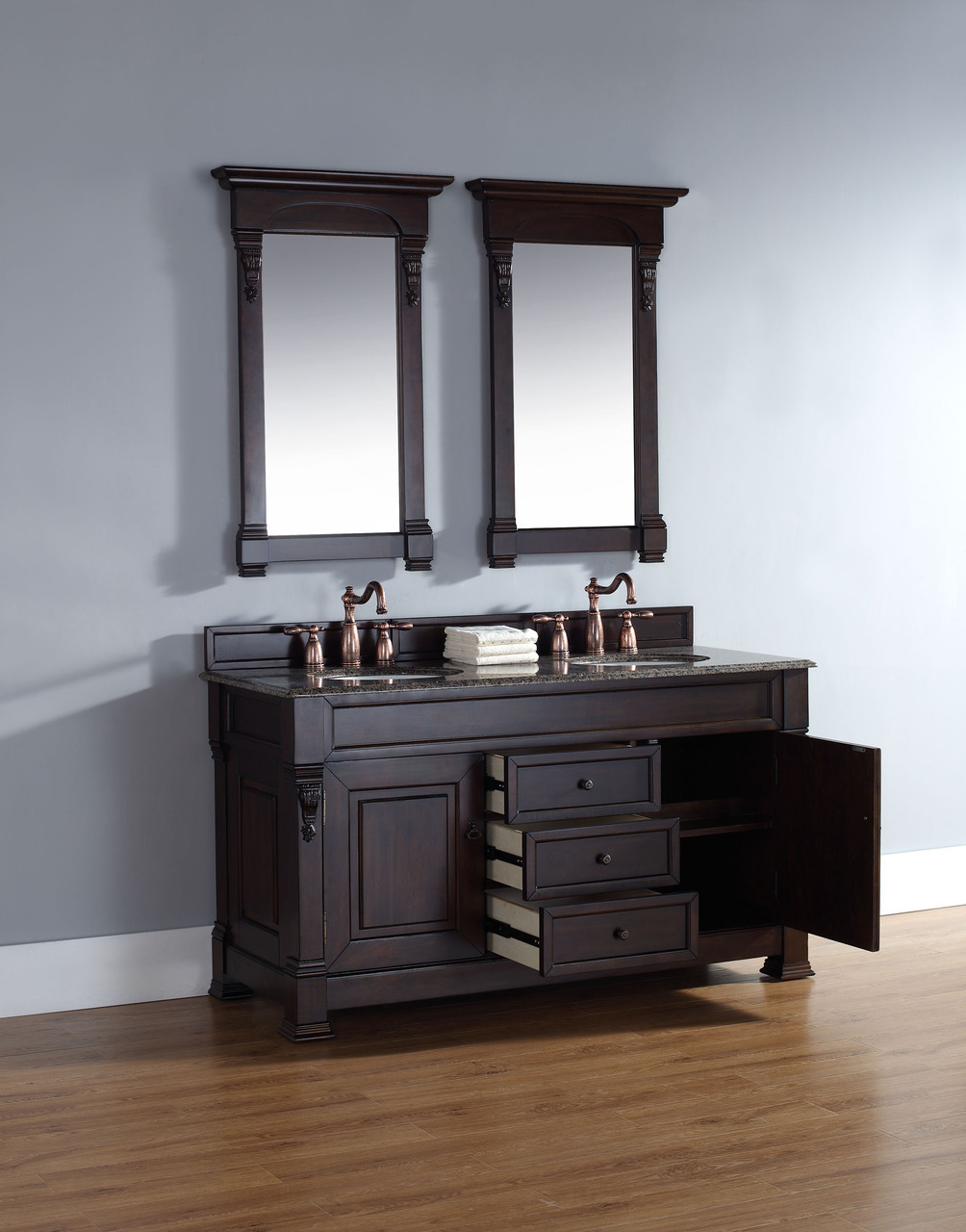 mahogany bathroom cabinets martin brookfield collection 60 quot vanity 13568