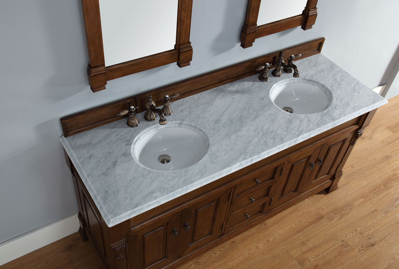 James Martin Brookfield Collection 72 Double Vanity Country Oak