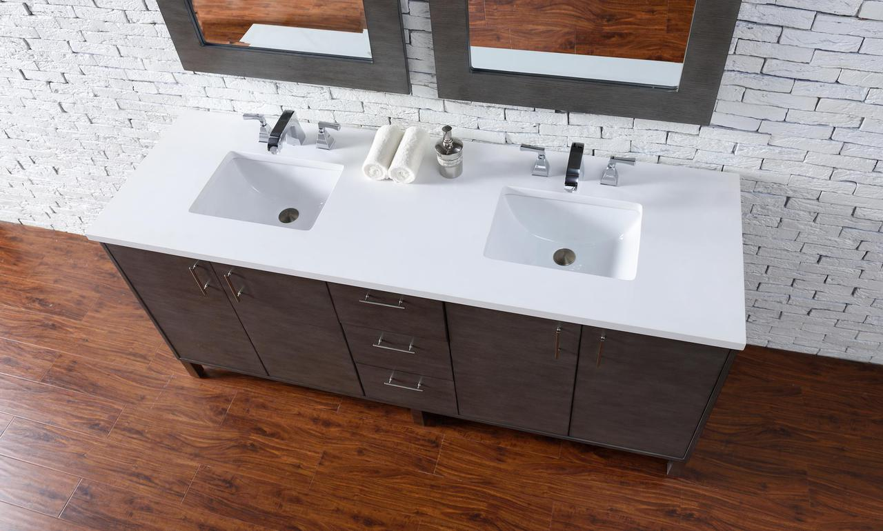 Bathroom Vanity Options abstron 72 inch silver oak finish bathroom vanity stone