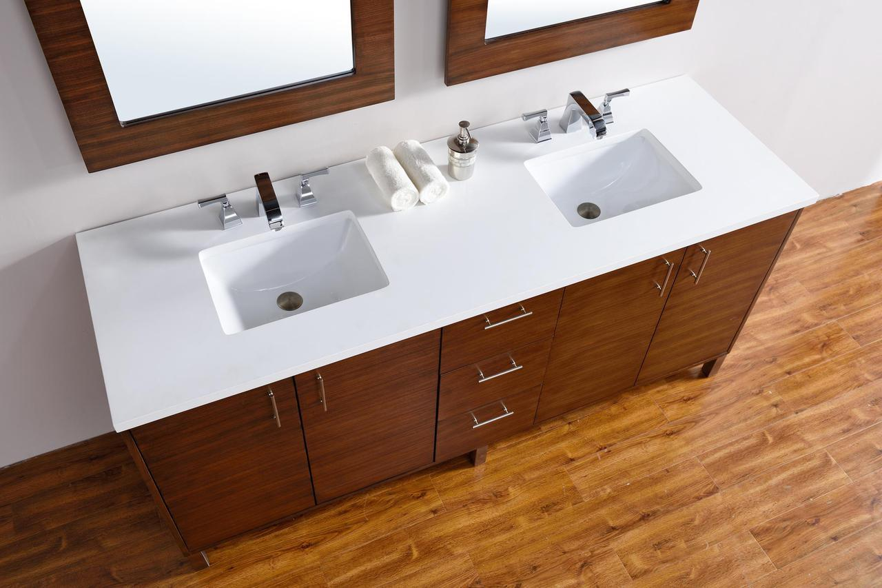 Bathroom Vanity Options abstron 72 inch walnut finish bathroom vanity stone countertops