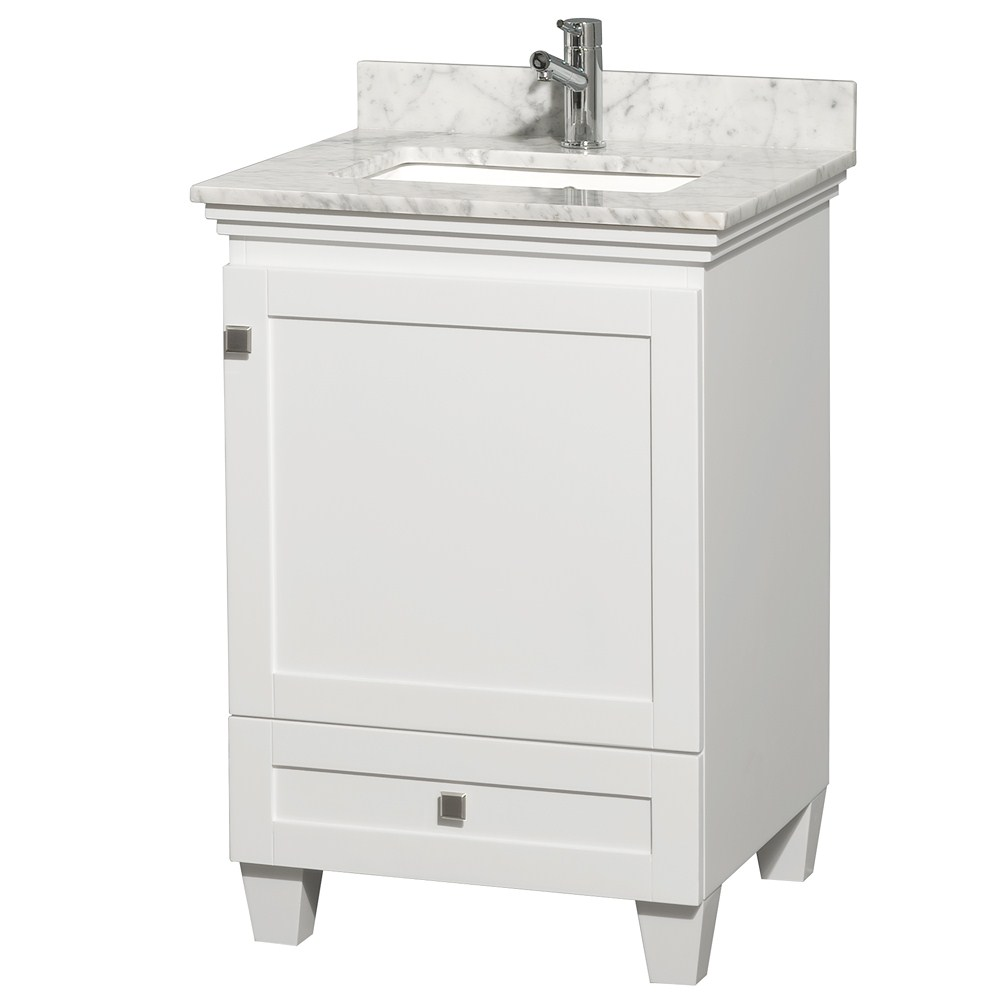 "acclaim 24"" white bathroom vanity set, solid oak vanity blends"