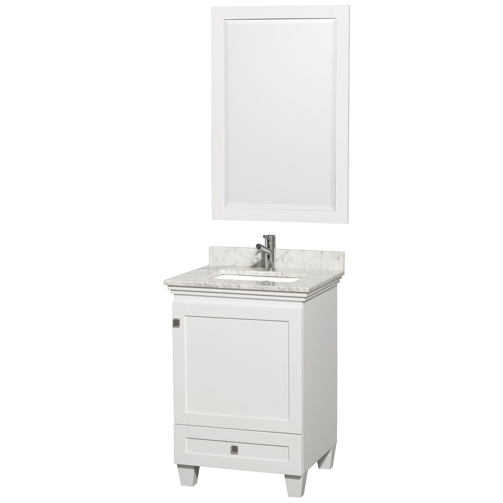 Acclaim 24 White Bathroom Vanity Set Solid Oak Vanity Blends