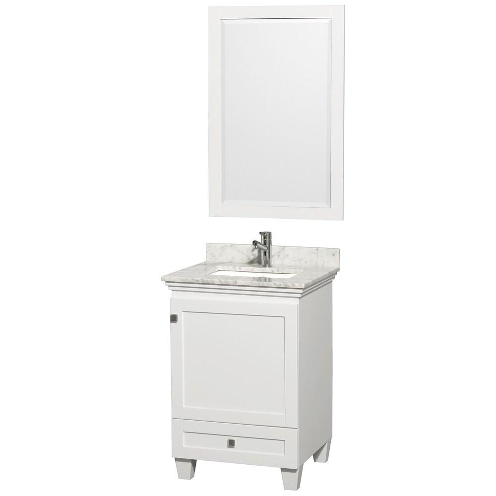 Acclaim 24 White Bathroom Vanity Set Solid Oak Vanity Blends