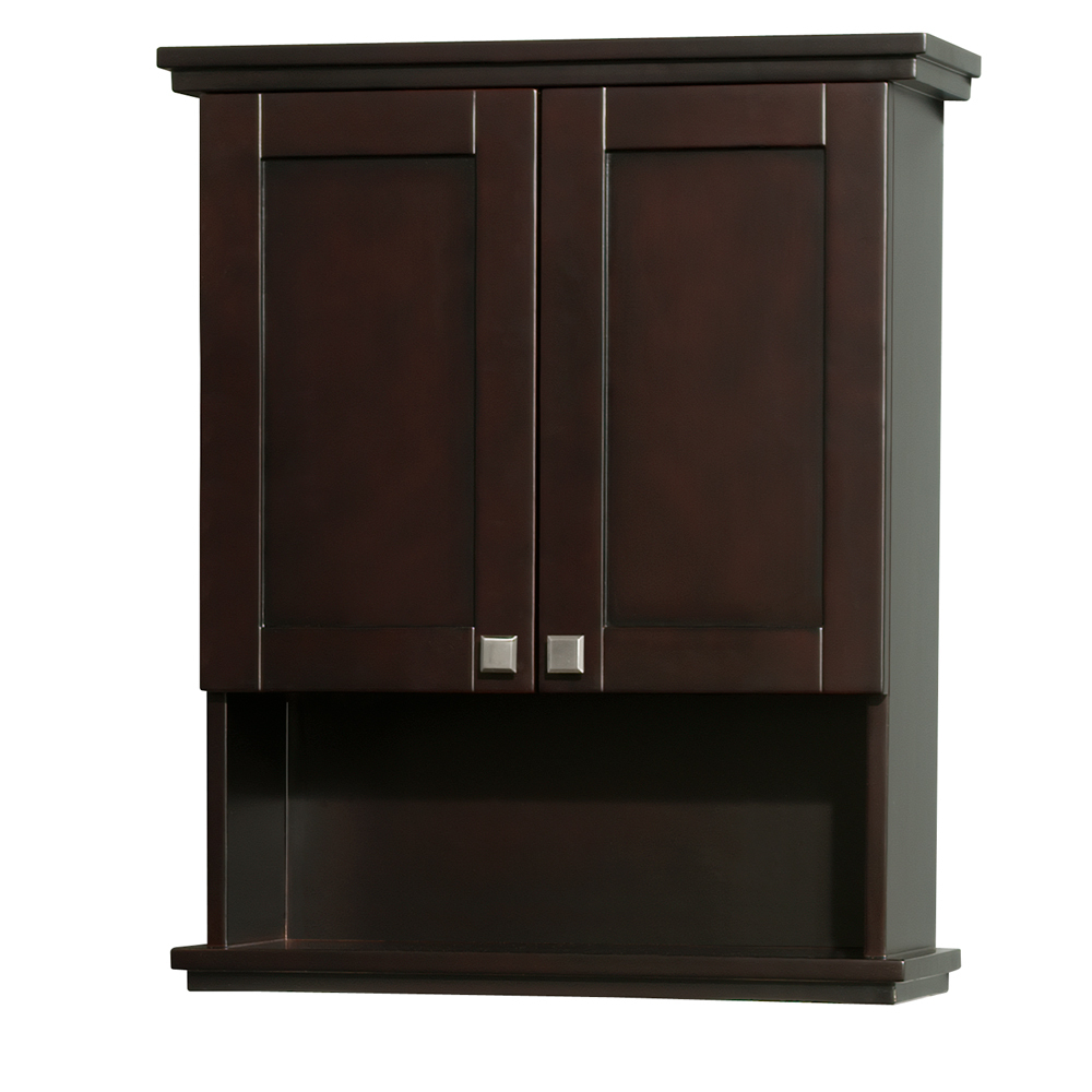 Acclaim wall bathroom cabinet espresso finish wall mount for Bathroom armoire cabinets