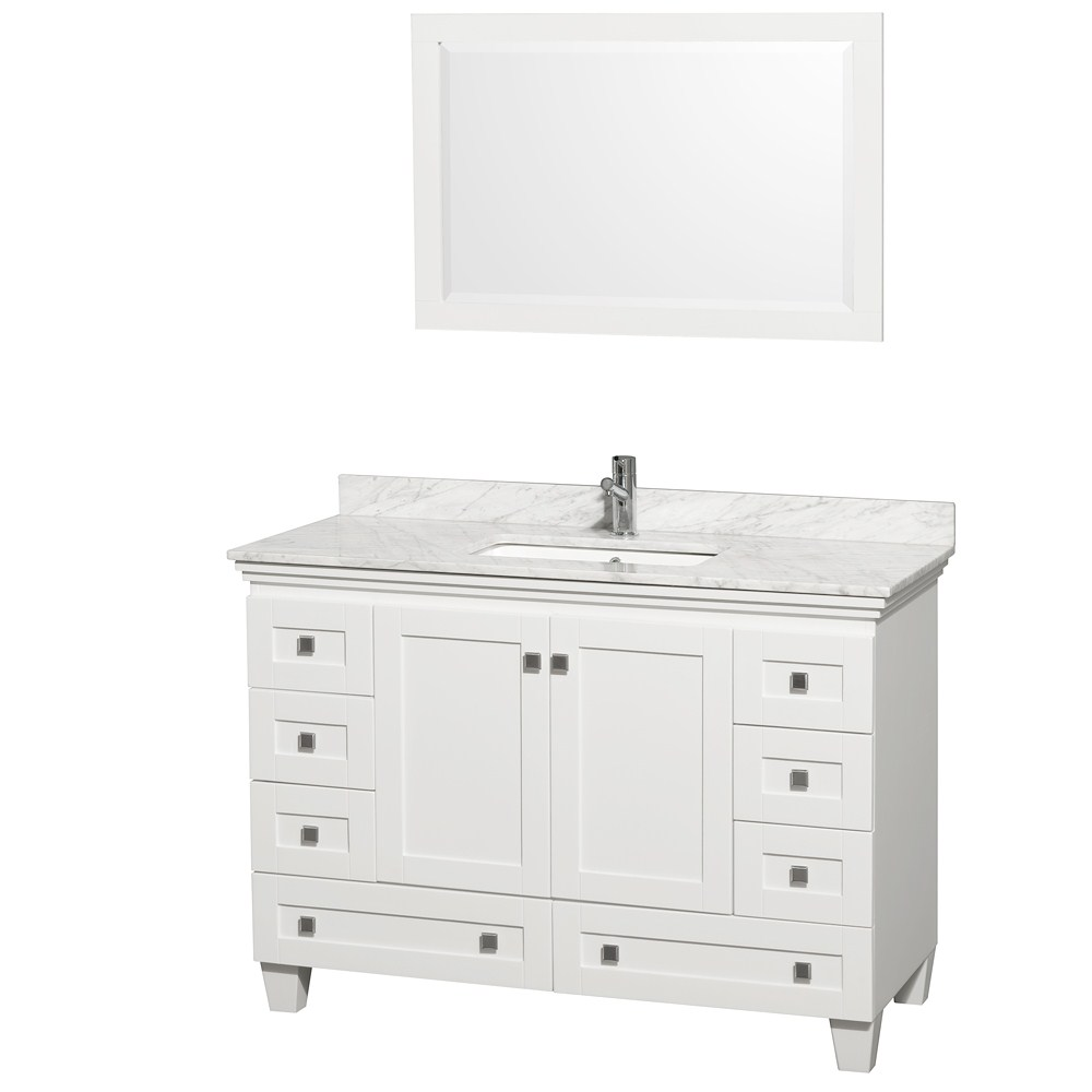 "48"" white bathroom vanity set"