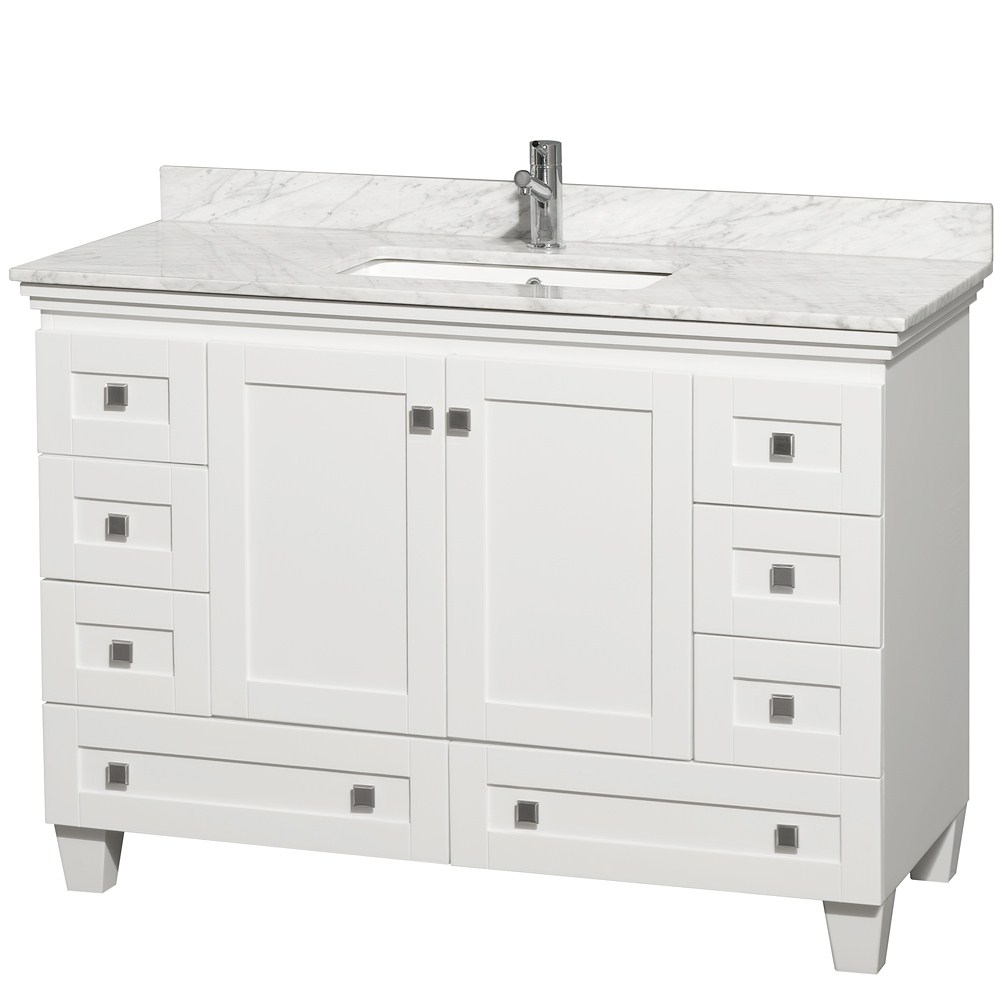 Acclaim 48 White Bathroom Vanity