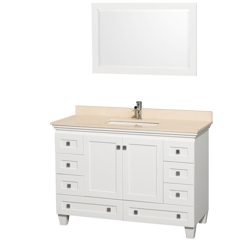 white bathroom vanity set acclaim 48 quot white bathroom vanity set 21479