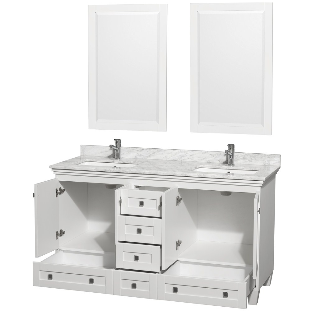 "60 Bathroom Vanity Acclaim 60"" White Bathroom Vanity Set Counter Options Ivory"
