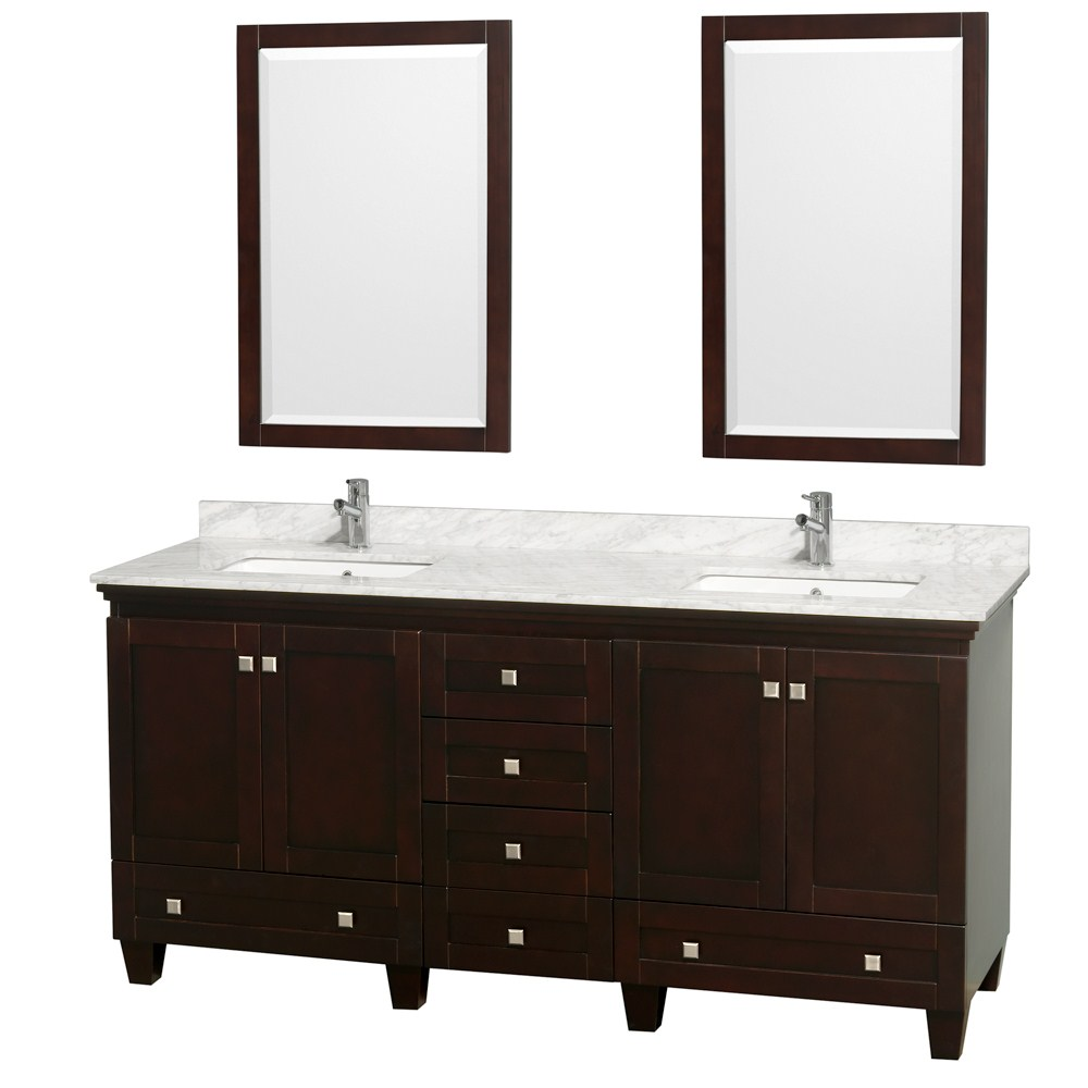 Acclaim 72 Espresso Double Bathroom Vanity Set