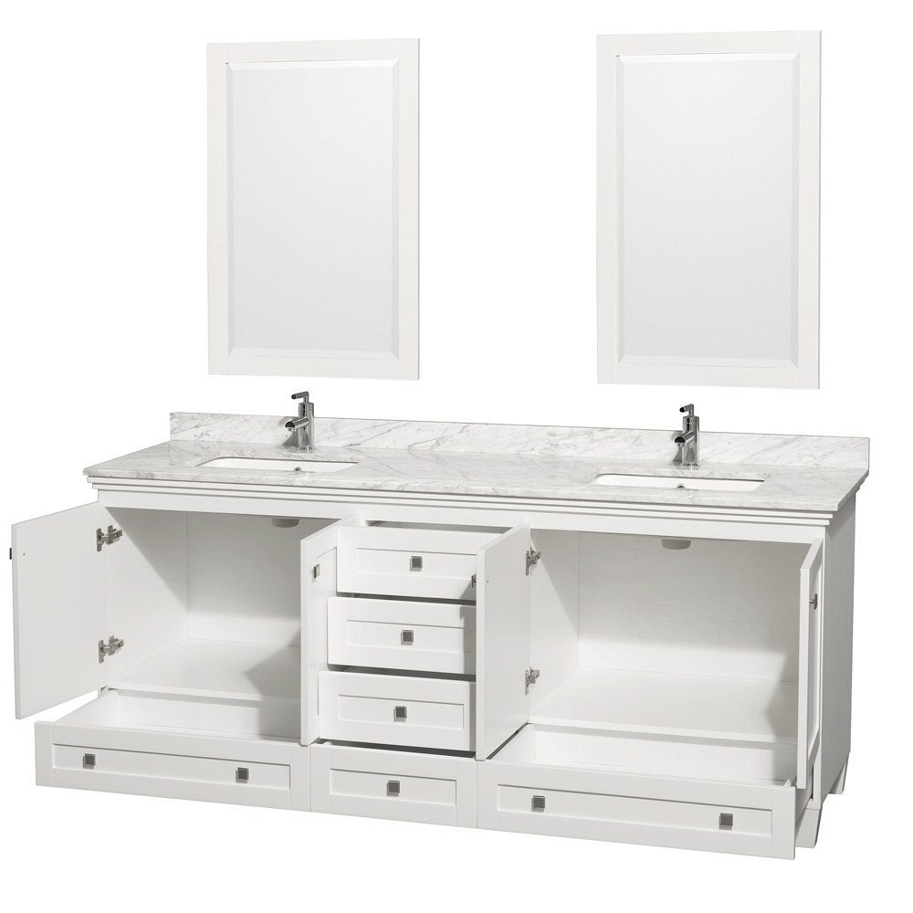 acclaim 80 white double bathroom vanity set wyndham