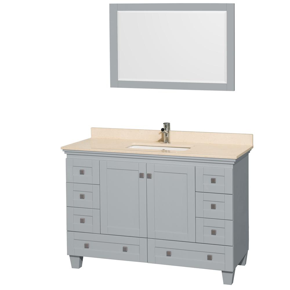 Vanity Marble Countertop : Accmilan inch single sink bathroom vanity in grey
