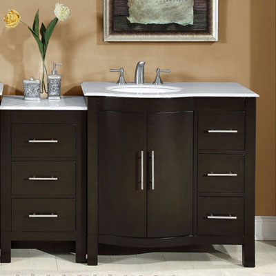 accord  inch contemporary double sink bathroom vanity with left sink,