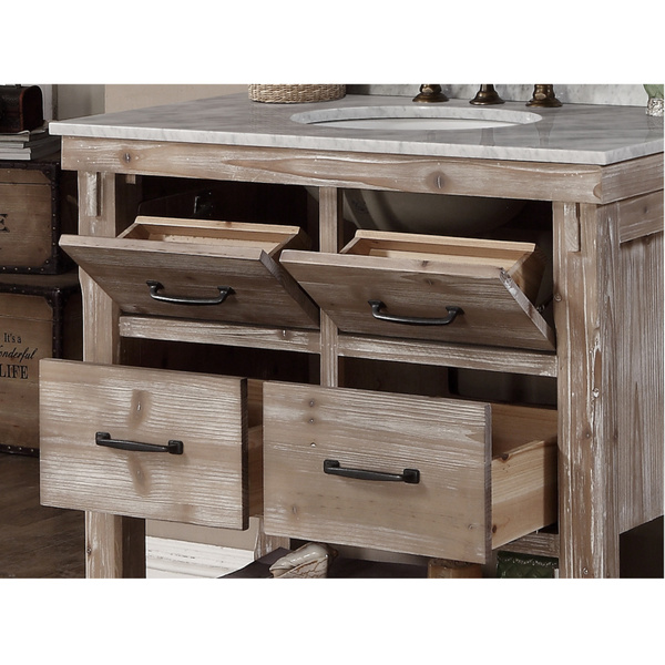 ... Accos 36 Inch Rustic Bathroom Vanity