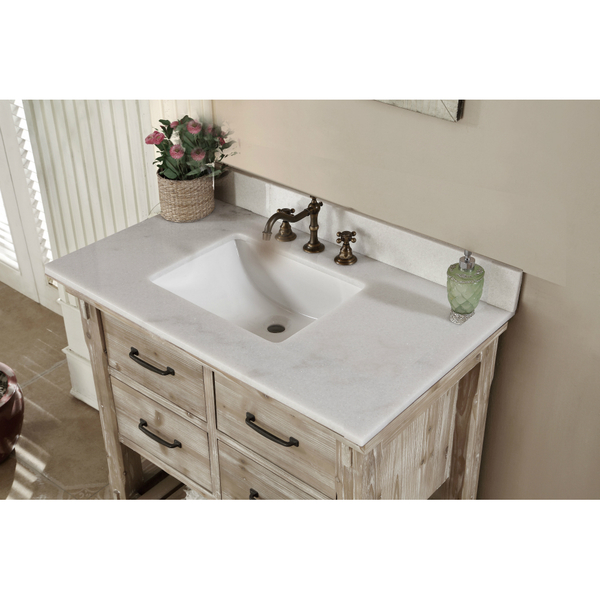 36 inch bathroom vanity with top. Accos 36 Inch Rustic Bathroom Vanity Quartz White Marble Top With
