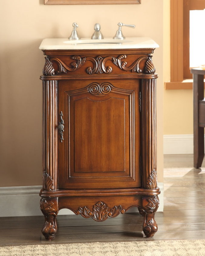 Bathroom Vanity Adelina 21 inch Antique Brown Finish Bath Vanity. Adelina 21 inch Antique Brown Finish Bathroom Vanity