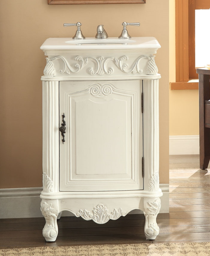 21 Inch Bathroom Vanity Sink. Adelina 21 Inch Antique White Finish Bath Vanity
