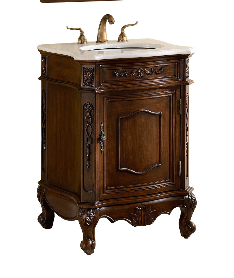 Adelina 24 Inch Antique Bathroom Vanity Cabinet