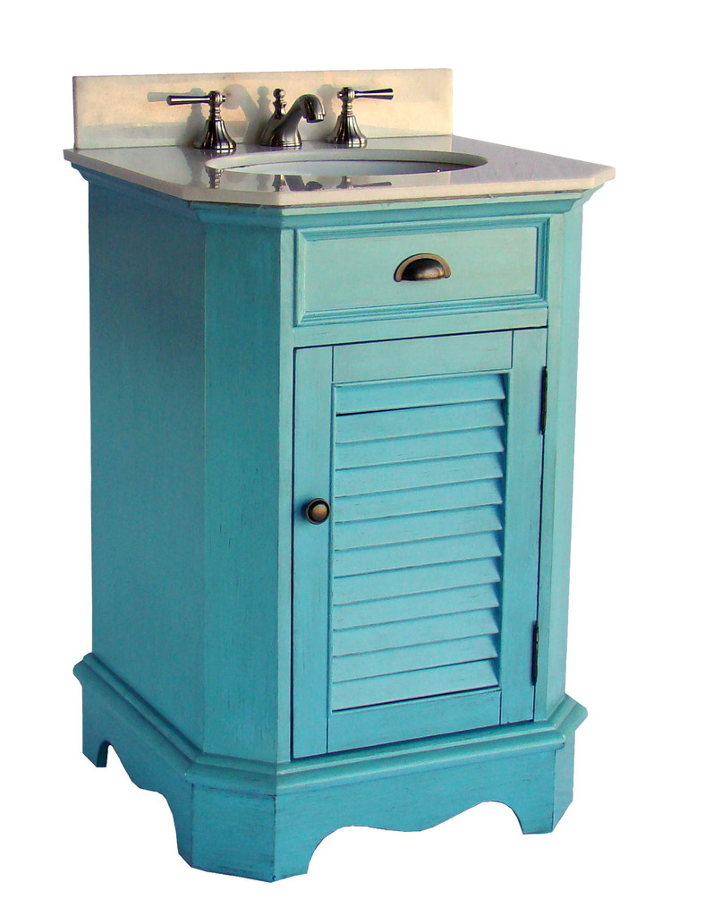 Adelina 24 inch cottage style bathroom vanity fully assembled for Premade bathroom vanities