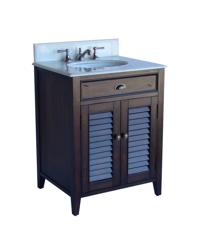 Adelina 26 Inch Cottage Brown Bathroom Vanity