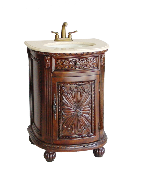 Adelina 26 Inch Decorative Petite Vintage Bathroom Vanity