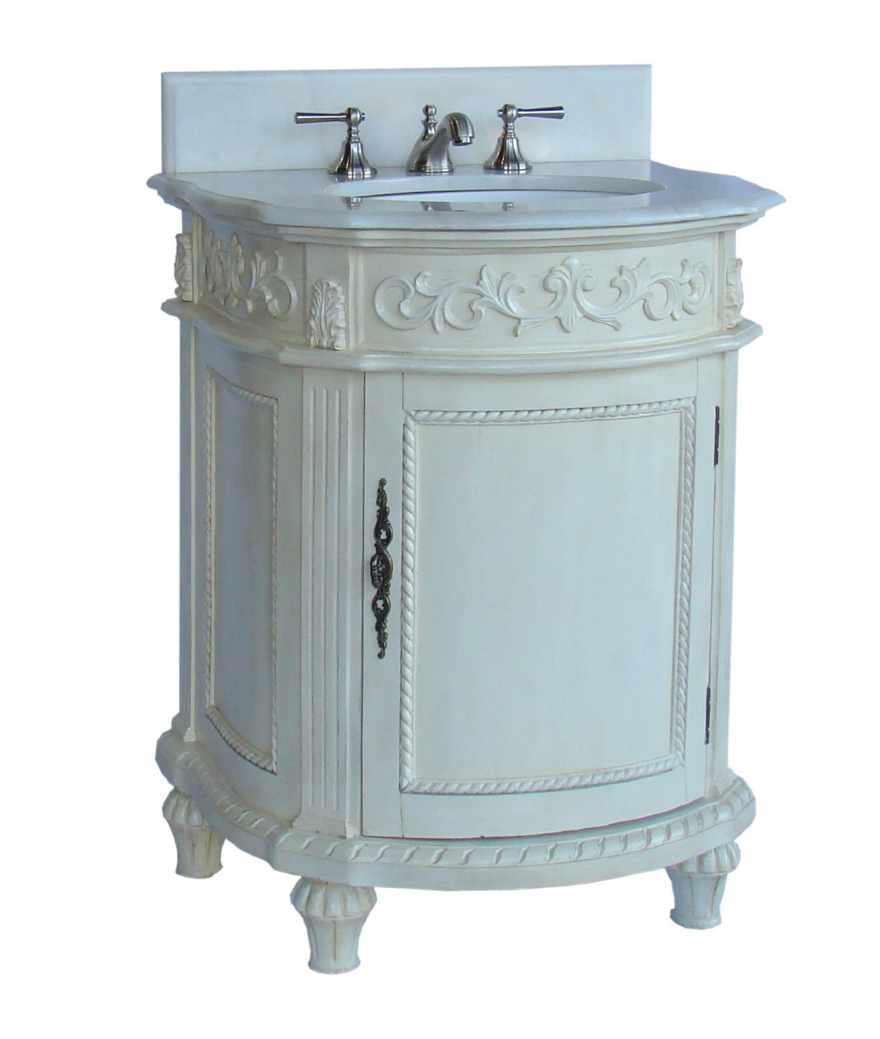 Petite Bathroom Vanity 26 inch petite bathroom vanity antique white finish