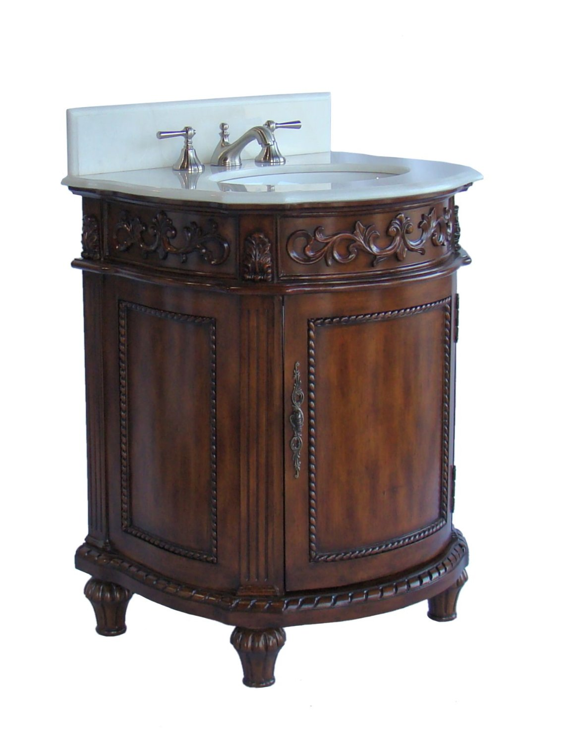 Petite Bathroom Vanity delina 26 inch petite bathroom vanity brown mahogany finish