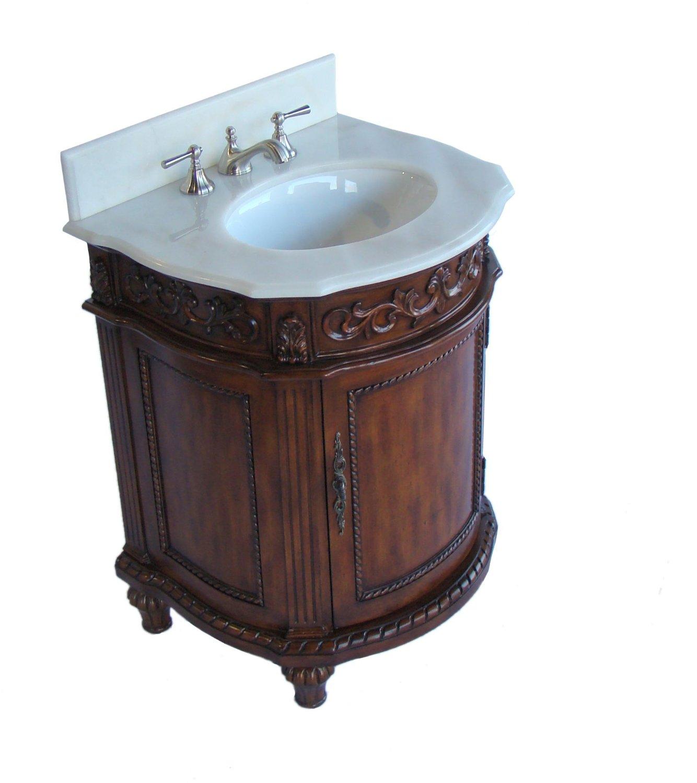 ... Adelina 26 Inch Petite Bathroom Vanity Mahogany Finish